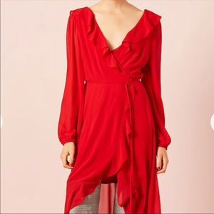 Ruffle Red forever 21 dress